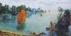 Kỷ lục Việt Nam: Bức tranh gắn đá quý trên vải toan nguyên khổ lớn nhất