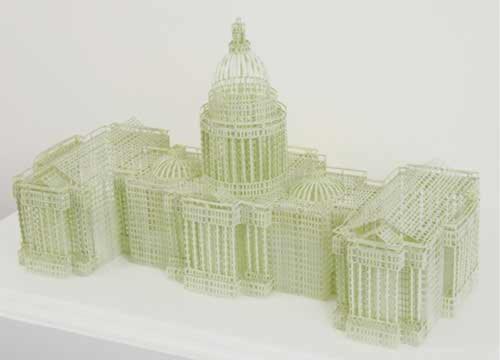Những ngôi nhà cao tầng làm từ giấy