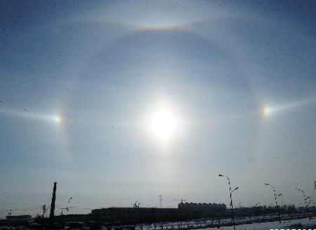 Mặt trời giả tại Trung Quốc