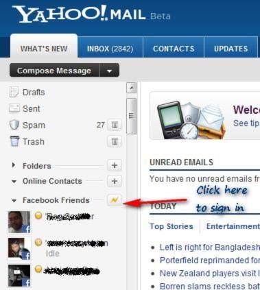 Yahoo! Mail hỗ trợ chat liên thông với Facebook