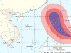 Cảnh báo bão Songda với gió cấp 15-16 trên Biển Đông
