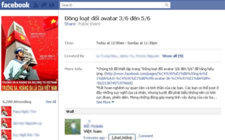 Trang khuyến khích người sử dụng đổi avatar trên Facebook.