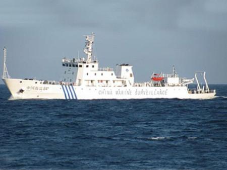 Tàu hải giám Trung Quốc tham gia vụ cắt cáp thăm dò địa chấn của tàu Bình Minh 02 hôm 26/5. Ảnh: PetroTimes