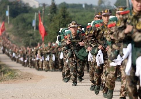 Quân đội Trung Quốc được điều động tới khu vực biên giới sát với Triều Tiên
