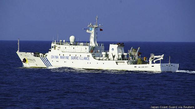 Một số tàu Hải giám Trung Quốc đâm vào các tàu Việt Nam