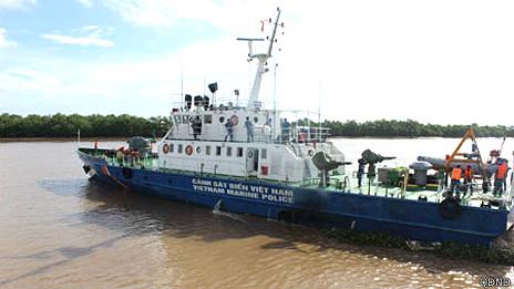 Tàu cảnh sát biển Việt Nam được nói đã ra đối đầu với tàu hộ tống giàn khoan Trung Quốc