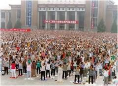 10.000 người cùng tham gia tập công ở TP Thẩm Dương. Ảnh minhhue