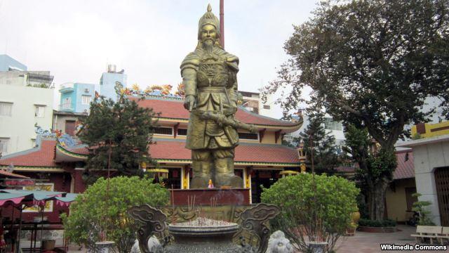 Đền thờ Trần Hưng Đạo ở số 36 đường Võ Thị Sáu, phường Tân Định, quận 1, Tp HCM.