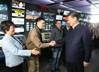Ông Tập đi thị sát đài truyền hình Trung ương. chantroimoimedia