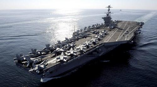 Tàu sân bay USS John C. Stennis, ảnh: Russia Today.