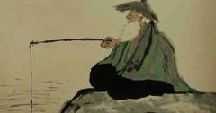 Khương Tử Nha ngồi câu cá bên sông Vị Thủy và gặp được Chu Văn Vương