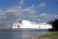 Tàu bệnh viện Mercy được xem là siêu bệnh viện hiện đại trên mặt biển. Ảnh pixabay