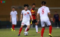 Thanh Hậu (số 16) giành vé vớt dự World Cup. (Ảnh: Trọng Phú)