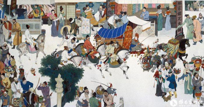 Kinh đô Trường An ngựa xe tấp nập. Ảnh minh họa chinatraveldepot.com