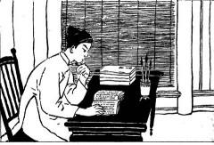 Bạch Liêu đọc sách 10 dòng một lúc. Ảnh internet
