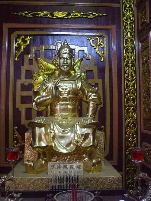 Tượng thờ Trần Quang Diệu trong Điện thờ Tây Sơn Tam Kiệt (Bảo tàng Quang Trung, Bình Định). (Ảnh từ wikipedia.org)