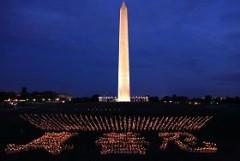 Washington DC: Tưởng niệm các học viên Pháp Luân Công bị bức hại ở Trung Quốc. Ảnh minghui.org