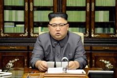 Ngày 21/9/2017, Kim Jong Un ra một tuyên bố hiếm hoi phản bác lại diễn văn của ông Trump tại Liên Hiệp Quốc. Ảnh được KCNA công bố ngày 22/9