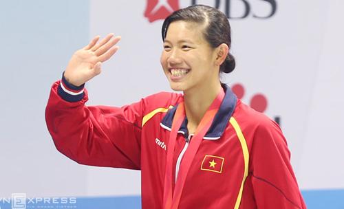VĐV bơi lội Ánh Viên tại SEA Games 29. Ảnh Đức Đồng