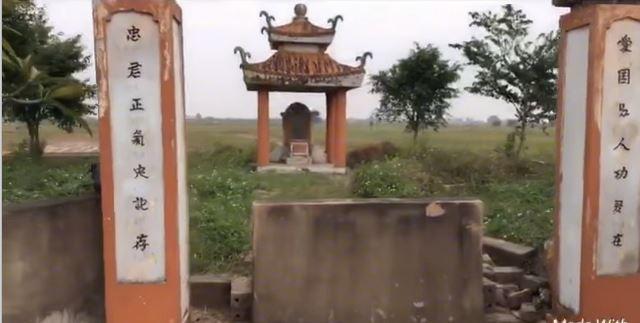 Mộ Nguyễn Trung Ngạn. (Ảnh từ youtube)