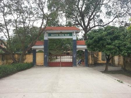 Ngôi trường mang tên Nguyễn Trung Ngạn ở Ân Thi. (Ản từ http://baohungyen.vn