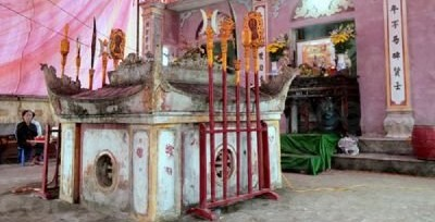 Mộ và nhà thờ Bùi Sĩ Tiêm ở xã Đông Kinh, huyện Đông Hưng, tỉnh Thái Bình. Ảnh từ internet