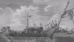 Một loại chiến thuyền thời nhà Nguyễn. (Tranh qua Wikipedia)