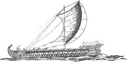 Tàu Trireme của quân Hy Lạp. (Ảnh từ wikipedia.org)