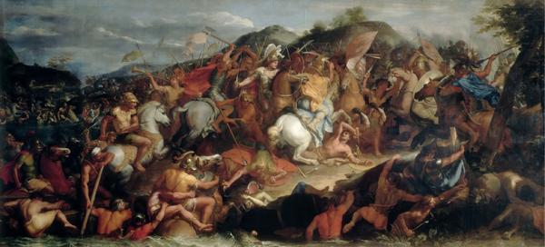 Alexander Đại Đế cùng quân đội của mình trong trận chiến sông Granicus. (Ảnh từ Wikipedia.org)