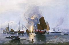 Chiến tranh nha phiến lần 1. (Tranh từ wikipedia.org)