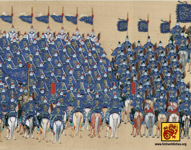 Kỵ binh Nữ Chân. (Ảnh từ hinhanhlichsu.org)