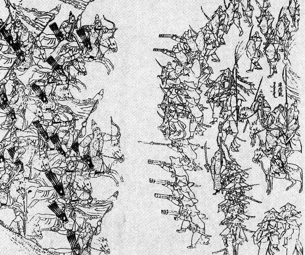 Cuộc chiến giữa quân Bát Kỳ và quân Minh. (Ảnh từ wikipedia.org)