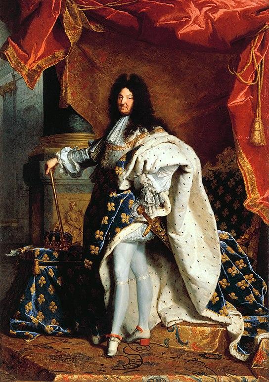 Louis XIV, họa phẩm của Hyacinthe Rigaud năm 1701. (Ảnh từ wikipedia.org)
