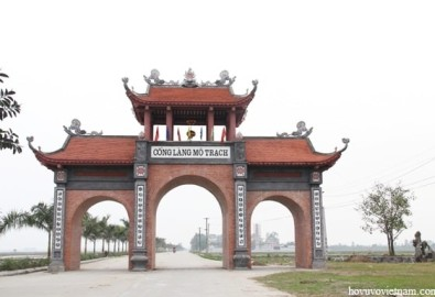 Cổng làng Mộ Trạch. Ảnh hovuvietnam.com