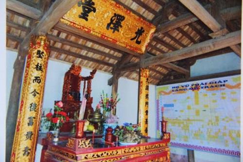 Nơi thờ quan Vũ Quỳnh ở nhà thờ Quang Trạch, làng Mộ Trạch. (Anh: hovuvo.com)