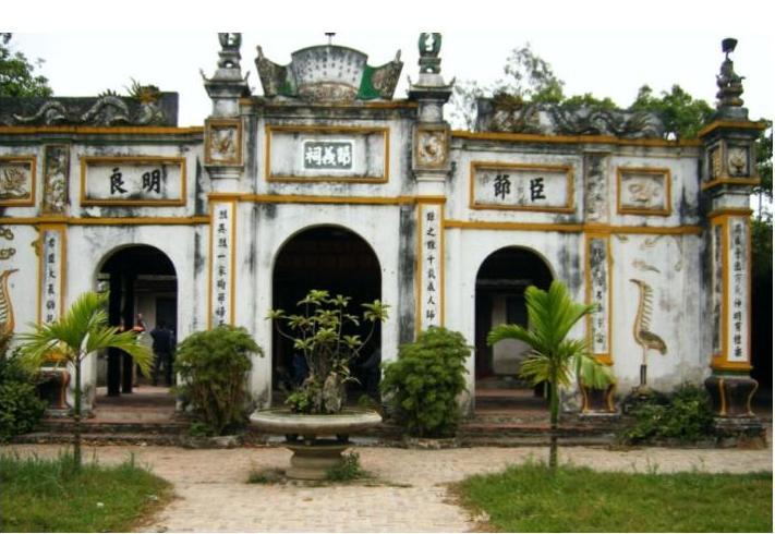 Tiết Nghĩa Từ, đền thờ cụ Tiết Nghĩa Đàm Thận Huy tại Bắc Ninh. (Ảnh từ nghiencuulichsu.com)