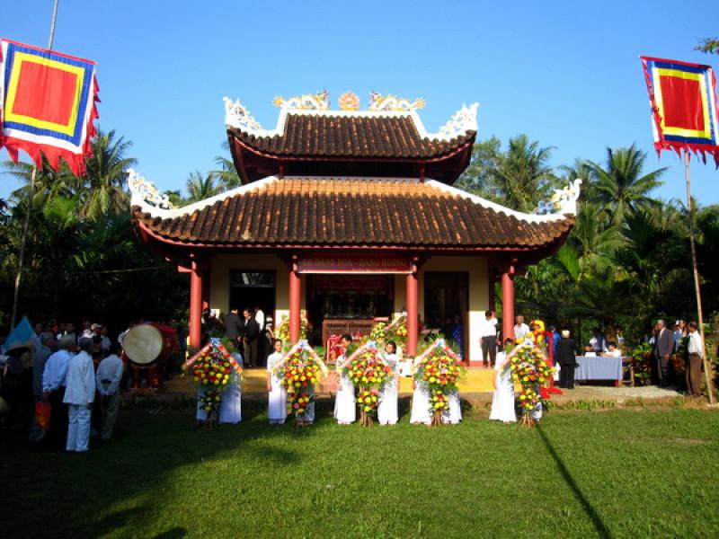 Đền thờ Đào Duy Từ ở xã Hoài Thanh Tây, huyện Hoài Nhơn, Bình Định. (Ảnh từ phunuvietnam.vn)