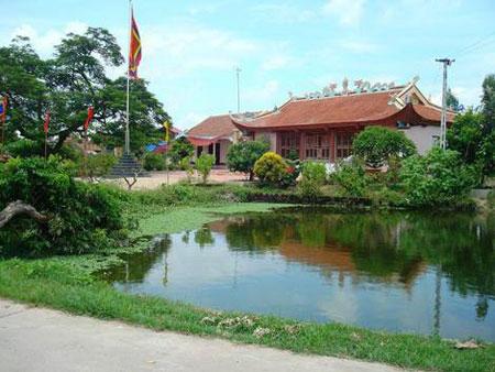 Đền thờ Tả Ao ở thôn Nam Trì, xã Đặng Lễ, huyện Ân Thi, tỉnh Hưng Yên. (Ảnh qua kienthuc.net.vn)