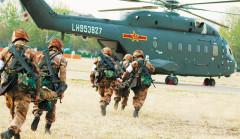 """Quân đội Trung Quốc diễn tập """"Đột kích Hồng Kông"""", trực thăng đâm vào vách núi khiến 11 người tử vong. (Ảnh: China Defence)"""