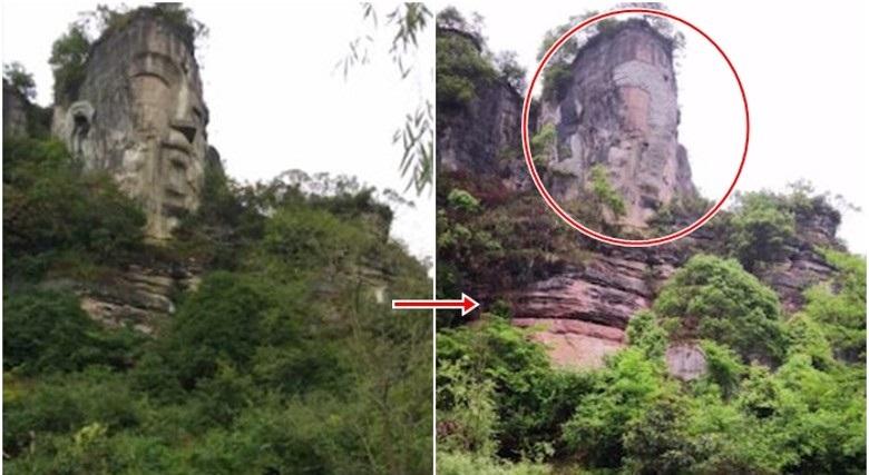 Ngày 14/5/2019, chính quyền Trung Quốc đã dùng xi măng lấp phẳng mặt bức tượng Phật bằng đá lớn nhất thế giới tại tỉnh Quý Châu, Trung Quốc.