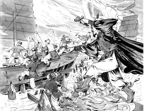 Đặng Dung cho quân đánh du kích. (Minh họa từ zing.vn)