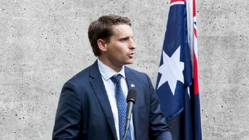 Ông Andrew Hastie – Chủ tịch ủy ban Tình báo và An ninh của Quốc hội Úc. (Ảnh: Facebook)