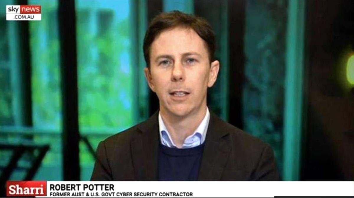 Chuyên gia an ninh mạng Robert Potter. (Ảnh: NTDTV)