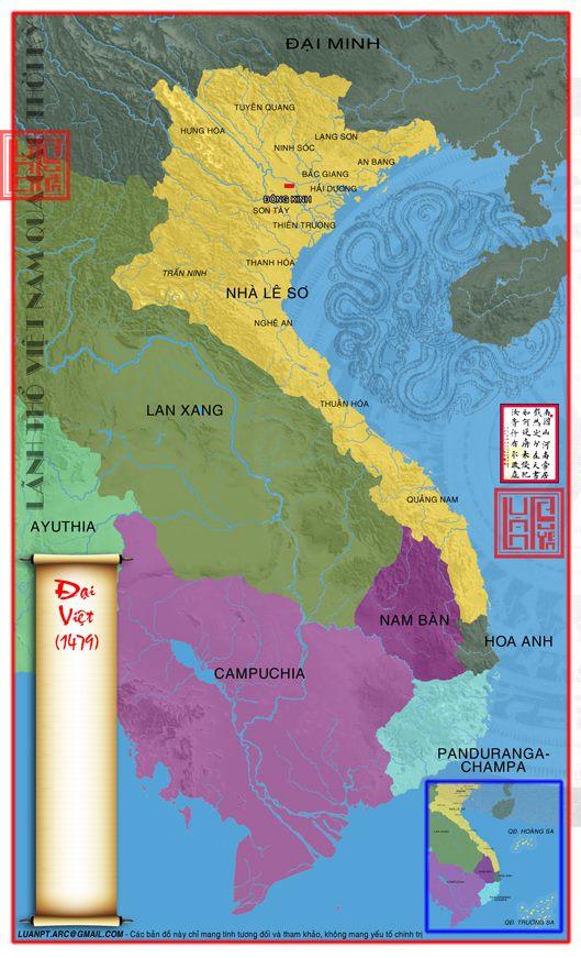 Bản đồ sau khi sáp nhập Bồn Man (Muang Phuan). (Ảnh từ lichsunuocvietnam.com)