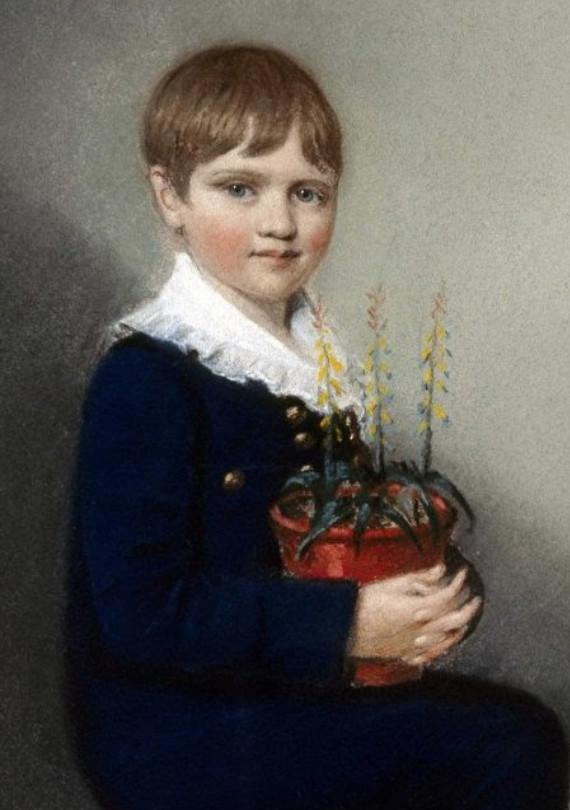 Hình ảnh Darwin lúc 7 tuổi