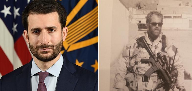 """Ảnh kết hợp: Ezra Cohen-Watnick (trái) – được cho là thủ lĩnh của tổ chức """"Q"""" và Chris Miller khi còn trong lực lượng đặc nhiệm chống khủng bố. (Ảnh qua TH)"""