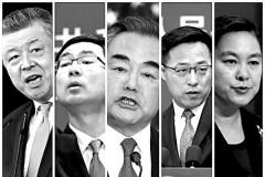 """Các nhà ngoại giao """"chiến lang"""" của Đảng Cộng sản Trung Quốc. (Epoch Times tổng hợp)"""