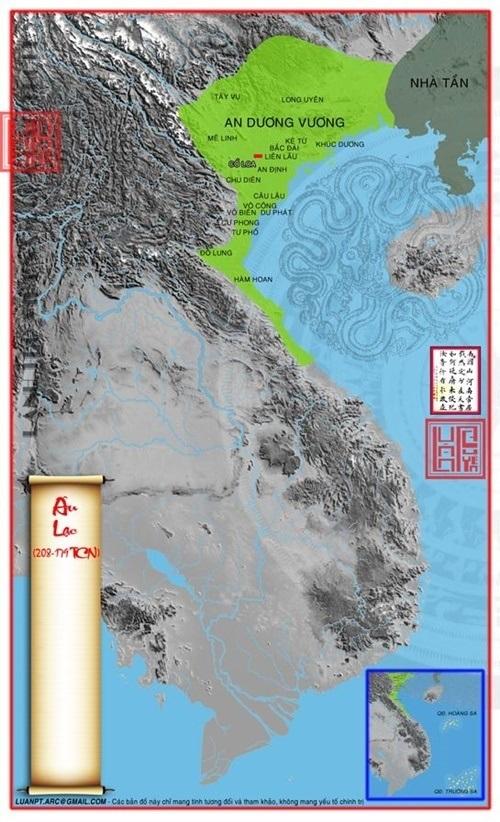 An Dương Vương hợp nhất Lạc Việt và Âu Việt, đặt tên nước là Âu Lạc. (Ảnh từ lichsunuocvietnam.com)